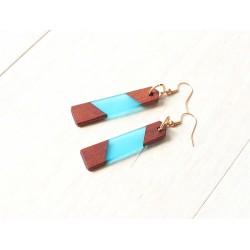 Wooden resin earrings CLASSIC
