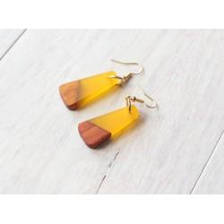 Wooden resin earrings SUMMER SKIN