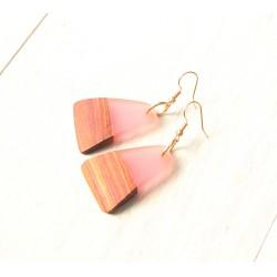 Wooden resin earrings SMOOTH PLEASURE