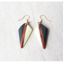 Wooden resin earrings SPICY CLAW