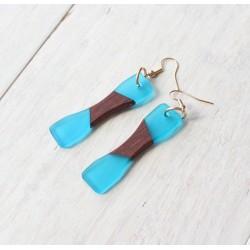 Wooden resin earrings HOURGLASS
