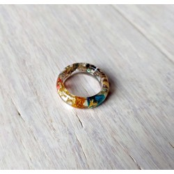Wood and resin ring STAR