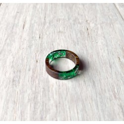 Wood and resin ring MOSS