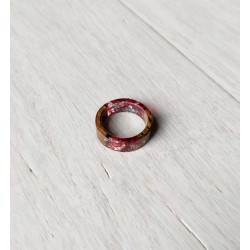 Wood and resin ring CRIMSON