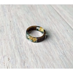 Wood and resin ring PINKY