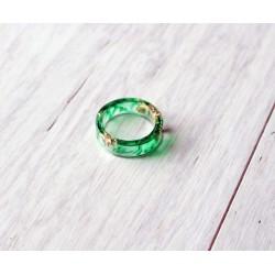 Wood and resin ring JADE