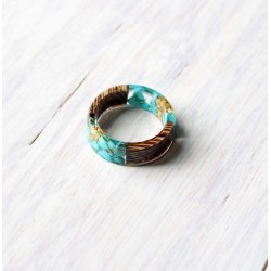 Wood and resin ring CLOUDY