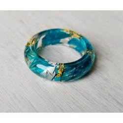 Wood and resin ring SKY WINGS