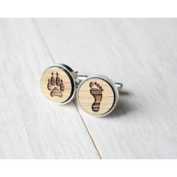 Friends wooden cufflinks