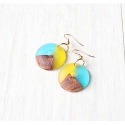 Wooden resin earrings LIMES