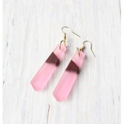 Wooden resin earrings POWDERY