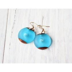 Wooden resin earrings CROATIAN
