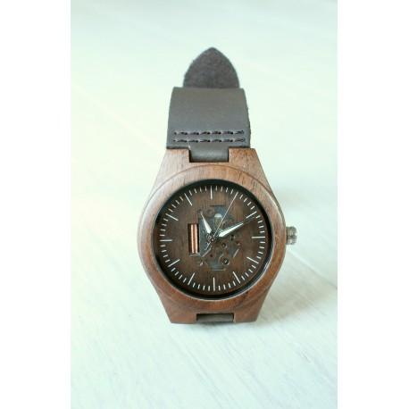 Drewniany zegarek SKELETON MINI walnut