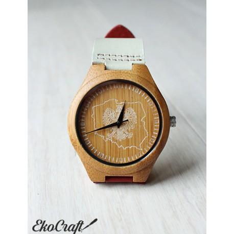 Drewniany zegarek POLSKA CLASSIC