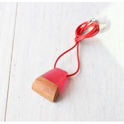 Drewniany naszyjnik z żywicą WIŚNIA