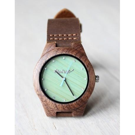 Drewniany zegarek WALNUT ZIRCON women