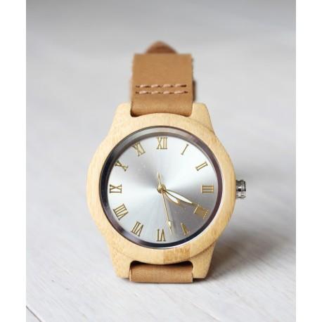 Damski drewniany zegarek SHINY bamboo