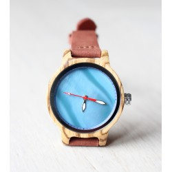 Drewniany zegarek RAINBOW BLUE
