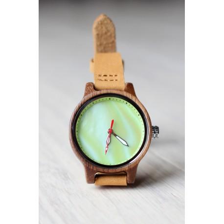Drewniany zegarek RAINBOW GREEN