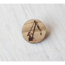 Drewniana wpinka ŻURAW