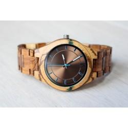 UNIKAT Drewniany zegarek z żywicą No. 7