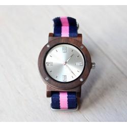 Damski drewniany zegarek SPORTY red