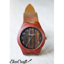 Drewniany zegarek  RED SANDAL WOOD women