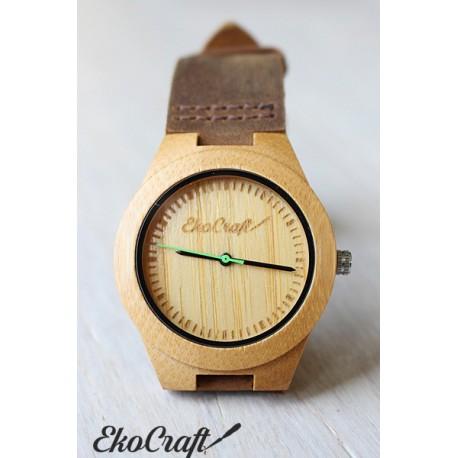 Drewniany zegarek BAMBOO GREEN women