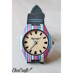 Damski drewniany zegarek PARROT