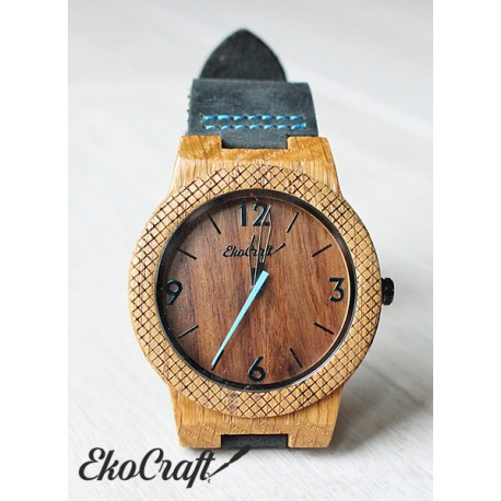 Wooden watch WALNUT EAGLE OWL
