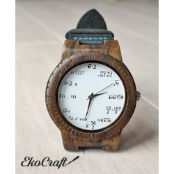 Wooden watch MATHEMATICS HAWK
