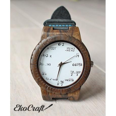 Wooden watch MATHEMATICS HAWK