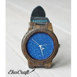 Wooden watch BLUE HAWK