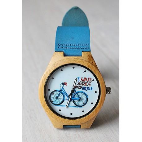 Drewniany zegarek BIKE RIDE