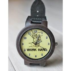 Drewniany zegarek WORK HARD