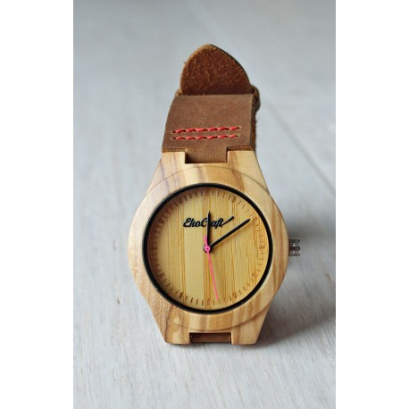 Drewniany zegarek BAMBOO ROSE women