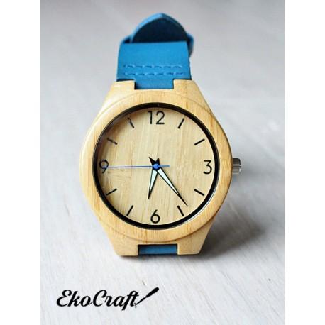 Drewniany zegarek BAMBOO BLUE