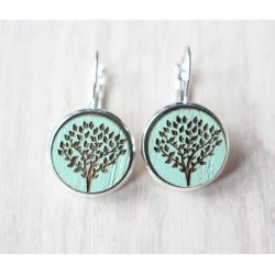 Wooden earrings Tree of Life