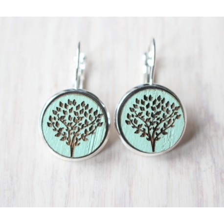 Wooden Earrings Tree Of Life